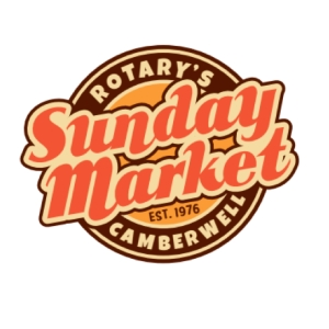 Rotary's Camberwell Sunday Market new logo from 2015.