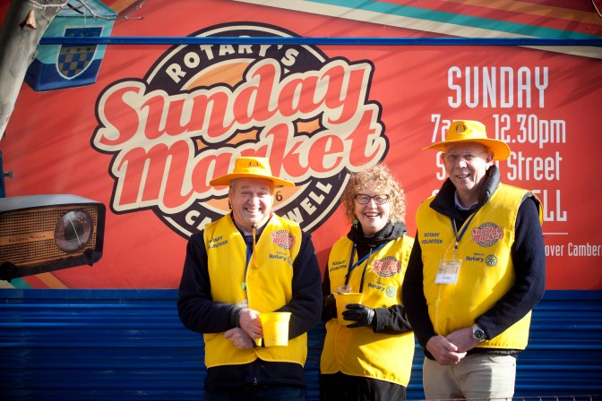 How your gold coin donation to the Rotary Camberwell Sunday Market supports the community